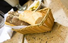 Free Bread In Basket Royalty Free Stock Photography - 2928547