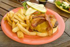 Free Delicios Bacon Burger Royalty Free Stock Photography - 2928567