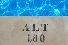 Free Horizontal Pool Sign 180 Cm Royalty Free Stock Photos - 2928928