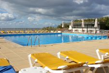 Free Pool View With Sunbeds Stock Photos - 2929173