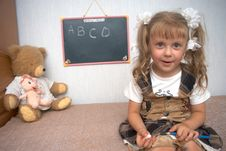 Free Girl With Toys Stock Photography - 2929402