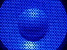 Blue Dot Texture Of Sound Royalty Free Stock Image