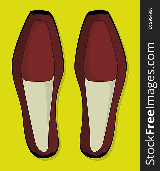 Shoes: leather (vector)