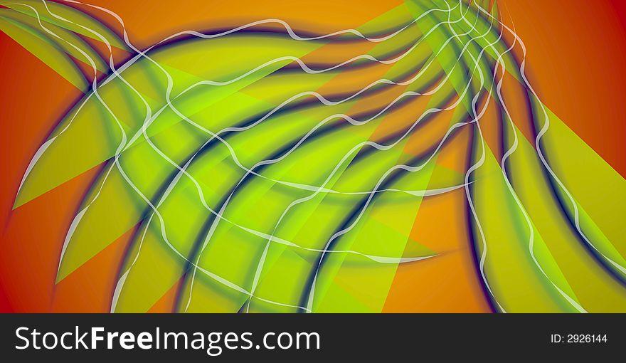 Cool Wispy Lines Pattern Green