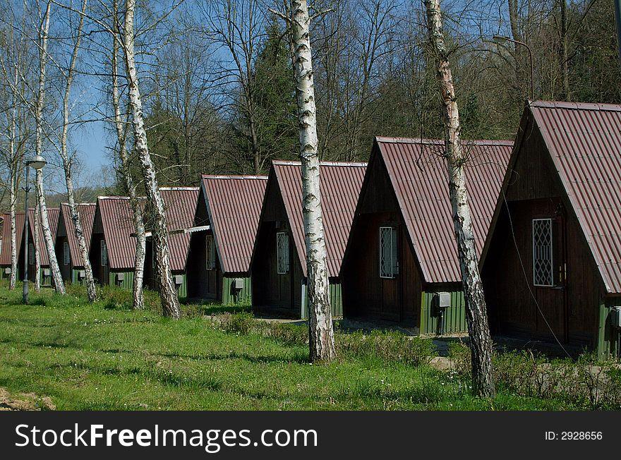 Mountain wooden house