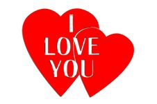 Free 3D I Love You Red Stock Photography - 29202172