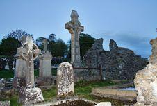 Free Spooky Cemetery At Dusk Stock Photos - 29209923