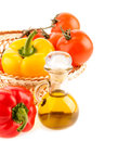 Free Pepper And A Bottle With Olive Oil Royalty Free Stock Photo - 29213065
