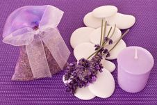 Free Little Sack Of Lavender Royalty Free Stock Image - 29213446