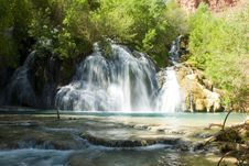 Navajo Falls In Havasu Canyon In The Grand Canyon Stock Images