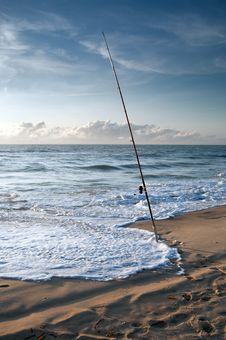 Free Surf Fishing Royalty Free Stock Photography - 29215077