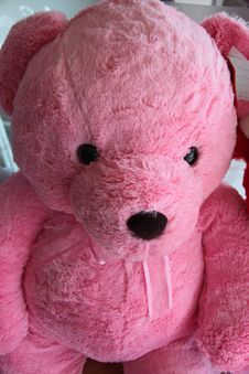 Free Pink Teddy Bear. Royalty Free Stock Photos - 29218618