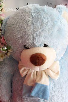 Free Sky Blue Teddy Bear. Stock Photo - 29218680