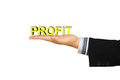 Free Profit Message In Businessman Hand Royalty Free Stock Photos - 29225088