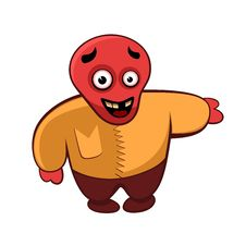 Happy Red Monster Stock Photography