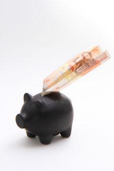 Free Piggybank With An Airplane Of Money Royalty Free Stock Photos - 29222358
