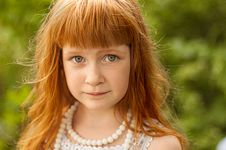 Free Little Redheaded Girl Royalty Free Stock Photography - 29223437