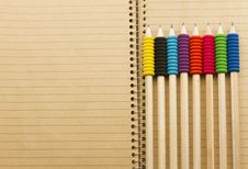 Free Pencils On Notebook Stock Photos - 29224293