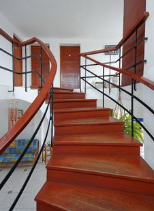 Free San Bartolo, Peru: Spiral Staircase Stock Photo - 29225440