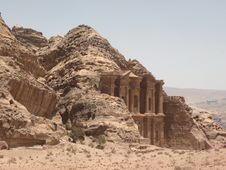 Free Petra Monastery Emerging From The Rock Stock Image - 29225681