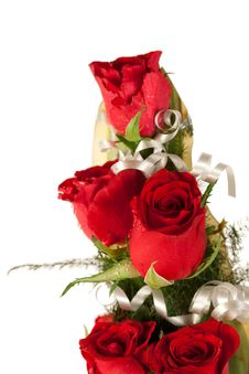 Free Red Rose Flowers  With Water Drops Stock Photography - 29225772