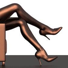 Free Woman Sexy Legs Royalty Free Stock Photo - 29225775