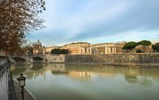 Embankment Of The River Tiber, Rome Royalty Free Stock Photography