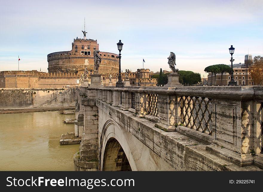 Bridge and Castel Sant Angelo, Rome, Italy