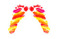 Free Watercolor Footprints Of Little Baby Royalty Free Stock Photography - 29235747