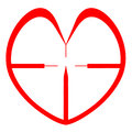 Free Red Heart Sniper Sight. Valentine. Health Stock Images - 29237904