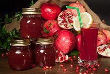 Free Pomegranate Jam And Juice Stock Photos - 29231833