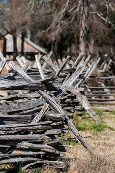 Free Old Country Village Fence Stock Image - 29233141