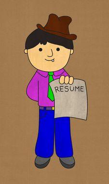 Free My Resume Stock Photo - 29235280