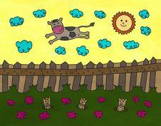 Free Sky Cow Stock Image - 29235311
