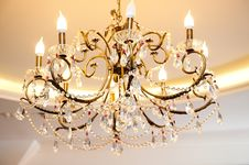 Free Chandelier In Vintage Style Stock Images - 29236464