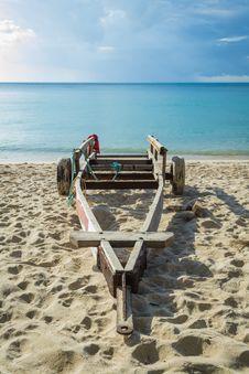 A Cart On The Beach Stock Photography