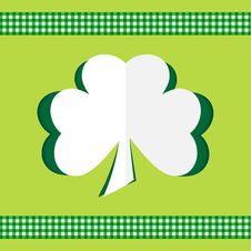 Free Clover Card Happy St.Patrick S Day Stock Photo - 29242620