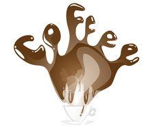 Free Coffee Splashing Text Stock Photos - 29246413