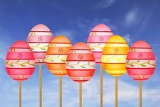 Free Colorful Easter Eggs Royalty Free Stock Photo - 29246885