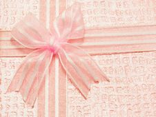 Free Pink Bow Stock Photo - 29247370