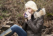 Free Blonde Woman With Beautiful Blue Eyes Royalty Free Stock Photography - 29249247
