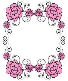 Free Rose Flower Frame Royalty Free Stock Photos - 29250018