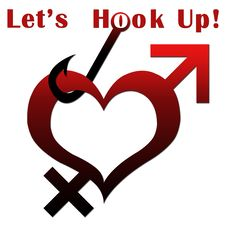 Free Heart Shape With Lets Hook Up Text Stock Photo - 29253060