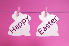 Free Happy Easter Message In Pink Royalty Free Stock Image - 29254406