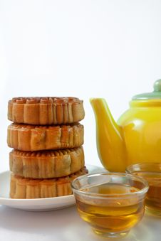 Free Chinese Pastry And Tea Stock Image - 29254741