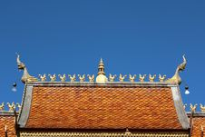 Free Thai Temple Roof Stock Photo - 29255010