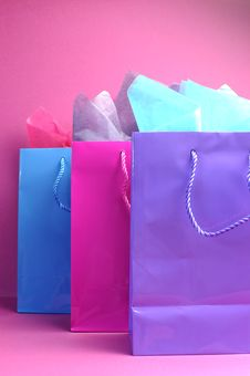 Free Three Shopping Bags Front View. Stock Photos - 29255093