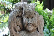 Free Wood Sculpture Royalty Free Stock Photos - 29256588