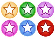 Set Of Shiny Circle Labels With Star