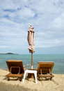 Free Chairs And Umbrella Royalty Free Stock Photos - 29261958